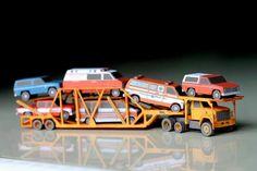 GMC BRIGADIER car transporter papercraft 1:100