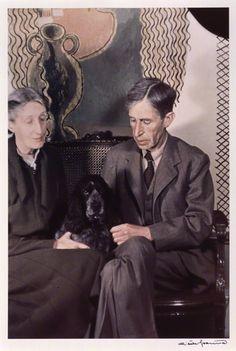 Virginia Woolf (née Stephen) - Leonard Sidney Woolf. Photographed by Gisèle Freund, 1939.