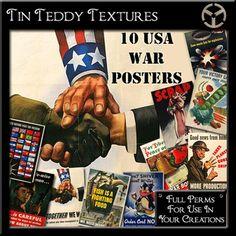 *Tin Teddy* 10 USA War Poster Textures 2