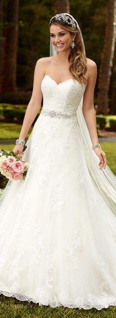 Robe de mariée princesse fine.