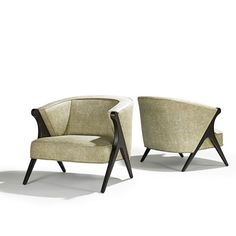 Maurice Bailey; Mahogany Lounge Chairs for Monteverdi-Young, 1960s.