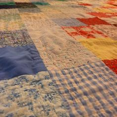 Detail of large square quilt by Nadine Flagel.