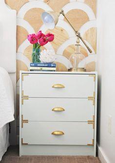 The White One. IKEA dresser to nightstand hack