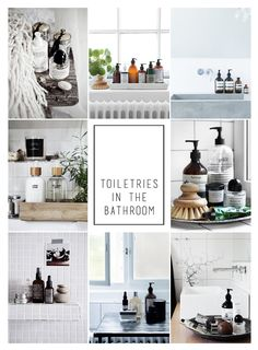 Toileteries in the bathroom