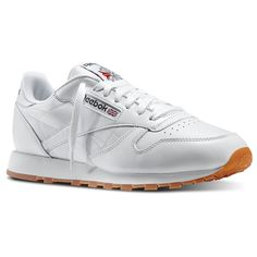 f5a61a60e7b4eb Reebok Shoes Men s Classic Leather in White Gum Size 8.5 - Retro  Running