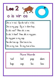 Afrikaans Leesboek Vlak 1 by Lyna's School Stuff Quotes Dream, Life Quotes Love, Quotes Quotes, Teaching Letter Recognition, Teaching Letters, Activities For 5 Year Olds, Kids Learning Activities, Grade R Worksheets, Preschool Worksheets
