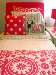 Chi omega all the way but this would be super cute for a guest room or a dorm love the bright colors