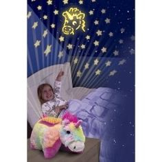 The unicorn dream light as seen on TV is adorable. The unicorn pillow pet night light turns your child's dark bedroom into a beautiful starry...