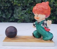 "Goebel Redheads Charlot Byj #1 ""Strike"", TMK 4, No Box | eBay Goebel Figurines, Redheads, Box, Vintage, Red Heads, Snare Drum, Ginger Hair, Vintage Comics, Red Hair"