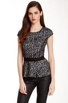 Leopard Knit Peplum Top by Rebecca Taylor on @HauteLook