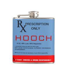 RX Prescription Hooch Flask