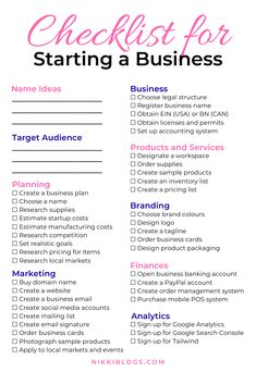 30 Crafts that Make Money + Successful Small Businesses Killing it! Use this checklist for starting a business to create your dream brand from home! Craft Business, Start Up Business, Business Names, Starting A Business, Business Tips, List Of Business Ideas, Small Business From Home, Llc Business, Small Business Plan