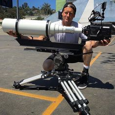 We're just gonna leave this over here & see if anyone notices  Tag a camera nerd  Photo by @afmarcotec : Phantom Flex with monster 10.000 mm lens!