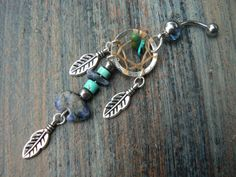 sodalite zuni bear dreamcatcher belly ring in belly dancer indie gypsy hippie morrocan boho tribal and hipster style