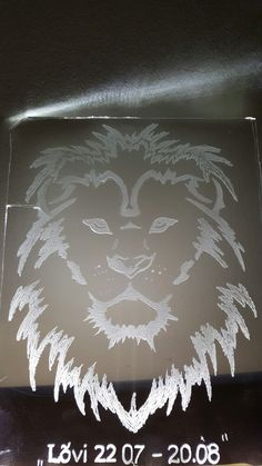The Lion...glass carving