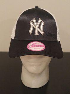 4a0311fd764 NEW ERA 9Forty New York Yankees MLB Baseball Mesh Hat Cap Women s  Adjustable NYY  NewEra  NewYorkYankees