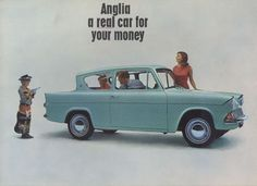 Ford Anglia 1959 My father bought this little Harry Potter car and we traveled… Ford Motor Company, Ford Fairlane, Classic Motors, Classic Cars, 1950s Car, Ford Anglia, Ad Car, Car Brochure, Detroit