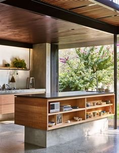 bCd This kitchen exemplifies all we want in 2019 Terrazzo floor tick warm wood tick open shelves tick and outside right there tick The Design Files, Küchen Design, Layout Design, Design Ideas, Home Decor Kitchen, Interior Design Kitchen, Kitchen Ideas, Urban Interior Design, Terrazzo Flooring