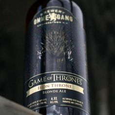 "Serve Ommegang's Iron Throne Blonde Ale… - by Natalie Brown || How To Throw A Gorgeous And Geeky ""Game Of Thrones"" Wedding 