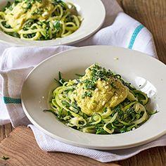 Zucchini Fettuccine & Cauli Alfredo Recipe
