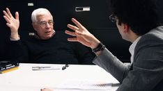 Eisenman's Evolution: Architecture, Syntax, and New Subjectivity,Iman Ansari with Peter Eisenman in his office, New York 2013. Image Courtesy of an-onymous.com