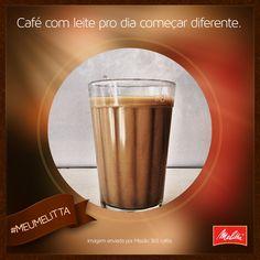"""Na xícara ou em copo americano, o sabor do """"pingado"""" com Café Melitta sempre surpreende! #meumelitta"""
