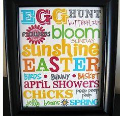 Easter themed subway art printable
