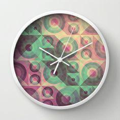 Rainbow 02 Wall Clock by VessDSign - $30.00