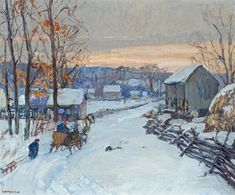 Sleigh Days , ca. 1917 - Edward Willis Redfield