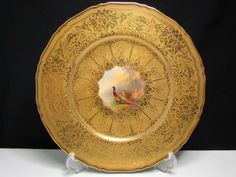 ROYAL WORCESTER H.PAINTED ' PHEASANT ' CABINET PLATE |