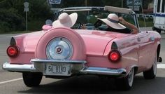 :-) I want this car.. I saw one just like it at the rod run in Temecula. It's white leather interior with pink ticking, pink dash and pink sterrring wheel.
