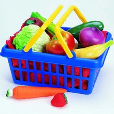 Pretend & Play® Fruit & Vegetable Play Food Basket Set - Food & Kitchen Sets - Early Learners & Preschool - Shop by Subject - Parents - Learning Resources®