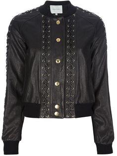 Pierre Balmain - laced leather jacket 1