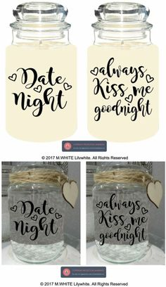 Jar Stickers Gl Labels Always Kiss Me Goodnight Or Date Night