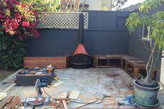 back patio progress, built-in seating // smitten studio