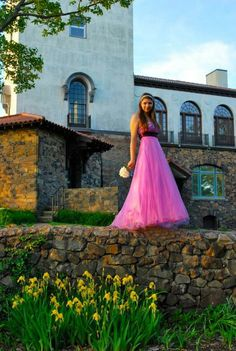 Becca in my prom dress photo shoot!