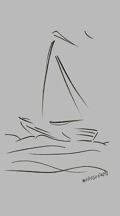 Simple Sailing Boat Drawings Greeting Card for Sale by Mario Perez