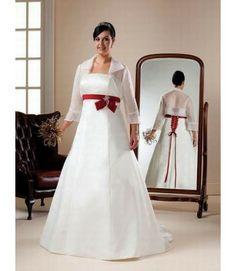 Vestidos de novia gorditas para boda civil rojo