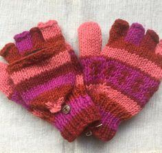 Handschoenen met vingerkapje   Handschoenen   Kleurrijk Nepal Nepal, Gloves