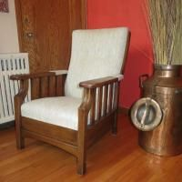 Antique Morris Push Button Recliner Made By Royal Chair Co. Antique  Appraisal | InstAppraisal