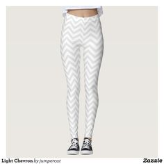 Light Chevron Leggings : Beautiful #Yoga Pants - #Exercise Leggings and #Running Tights - Health and Training Inspiration - Clothing for #Fitspiration and #Fitspo - #Fitness and #Gym #Inspo - #Motivational #Workout Clothes - Style AND comfort can both be achieved in one perfect pair of unique and creative yoga leggings - workout and exercise pants - and running tights - Each pair of leggings is printed before being sewn allowing for fun designs on every square inch - Medium weight fabric is…