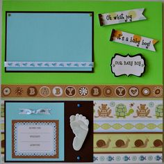 creative baby scrapbook pages | ... Scrapbook Pages - Baby Boys First Year Scrapbook Album - 22 Pages