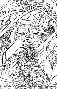 Genie Lineart by shirua.deviantart.com on @deviantART