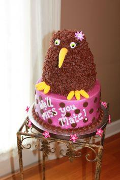 Kiwi bird cake