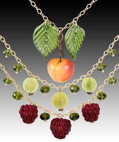 Glass Fruit Jewelry @ Elizabeth Johnson