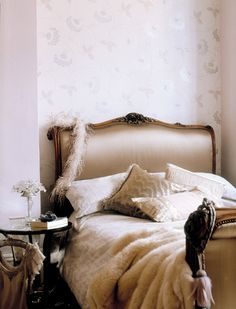 Polly Wreford decor, beauti bedroom, interior, headboard, beds, dream, hous, pink bedrooms, luxurious bedrooms