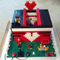Valentine card box for school. My 10 yr old did this. It has lights that shine on it too! He won most creative!