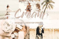 Cream Mobile Lightroom Preset My Settings, Edit Your Photos, Art Template, Design Bundles, School Design, Lightroom Presets, Free Design, Design Elements, Place Card Holders