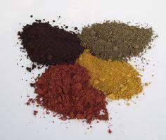 Terras para extrair pigmentos.