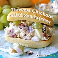 Harvest Chicken Salad (using Greek yogurt!)